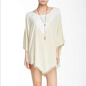 Gypsy 05 NWT Pompom tunic cover up Large